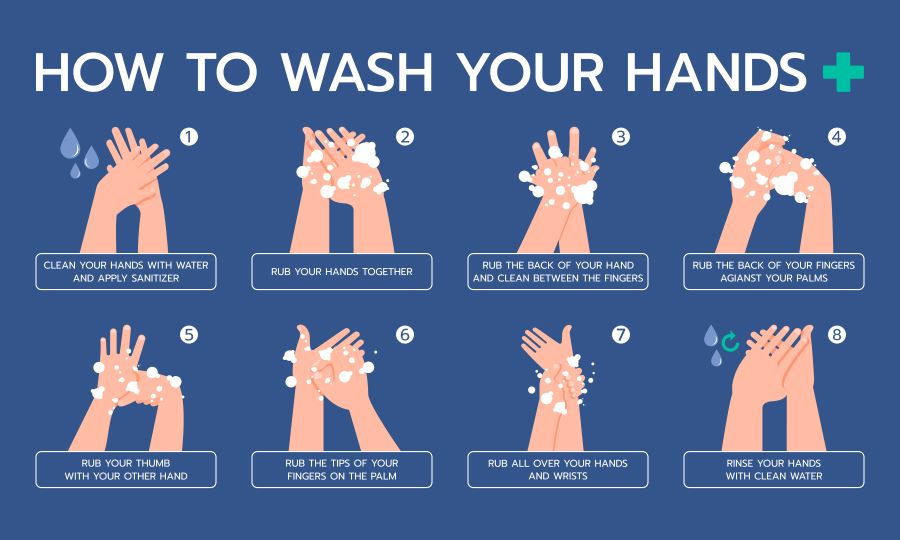 Wash your hands with soap and water for at least 20 seconds. Scrub your skin and under your nails to be rid of any lingering germs. You should do this frequently, especially if you or a family member is suffering from Pink eye.